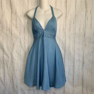 NWT Lulu's Halter Dress Flared Exposed Back Short